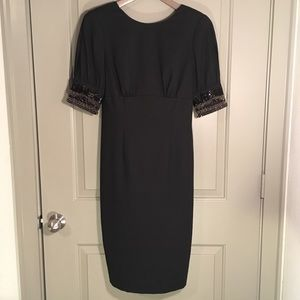 Magaschoni beaded sleeve dress